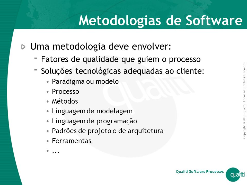 Metodologias de Software