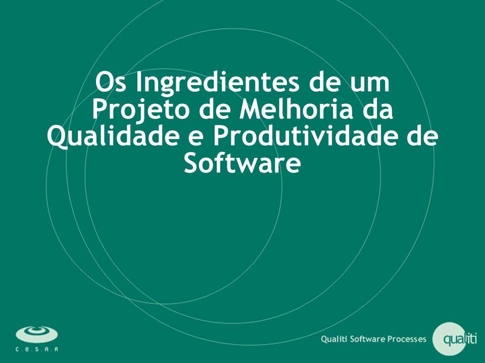 Os Ingredientes de um Projeto de Melhoria da Qualidade e Produtividade de Software