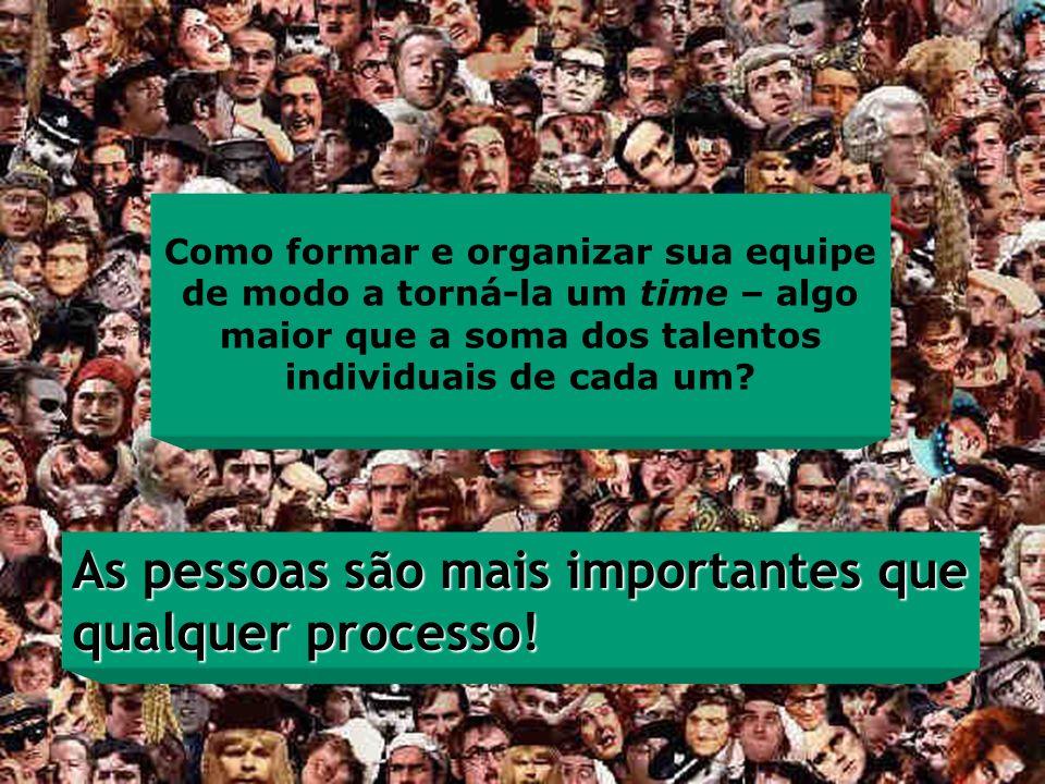 As pessoas são mais importantes que qualquer processo!