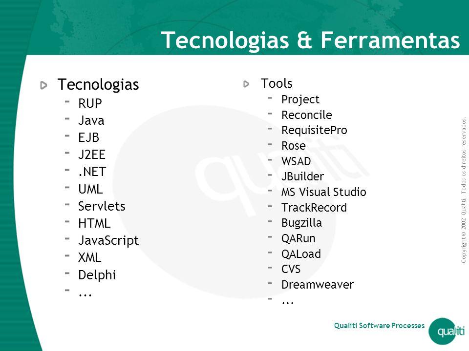 Tecnologias & Ferramentas