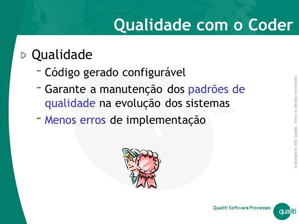 Qualidade com o Coder Qualidade Código gerado configurável
