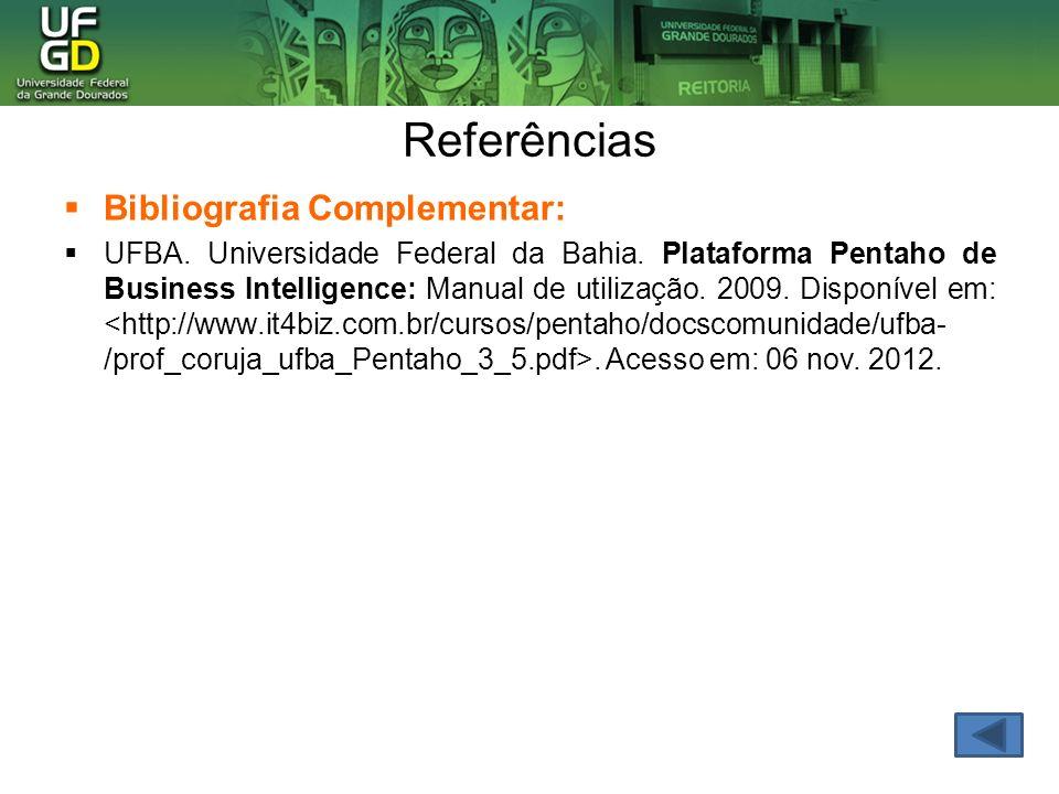 Referências Bibliografia Complementar: