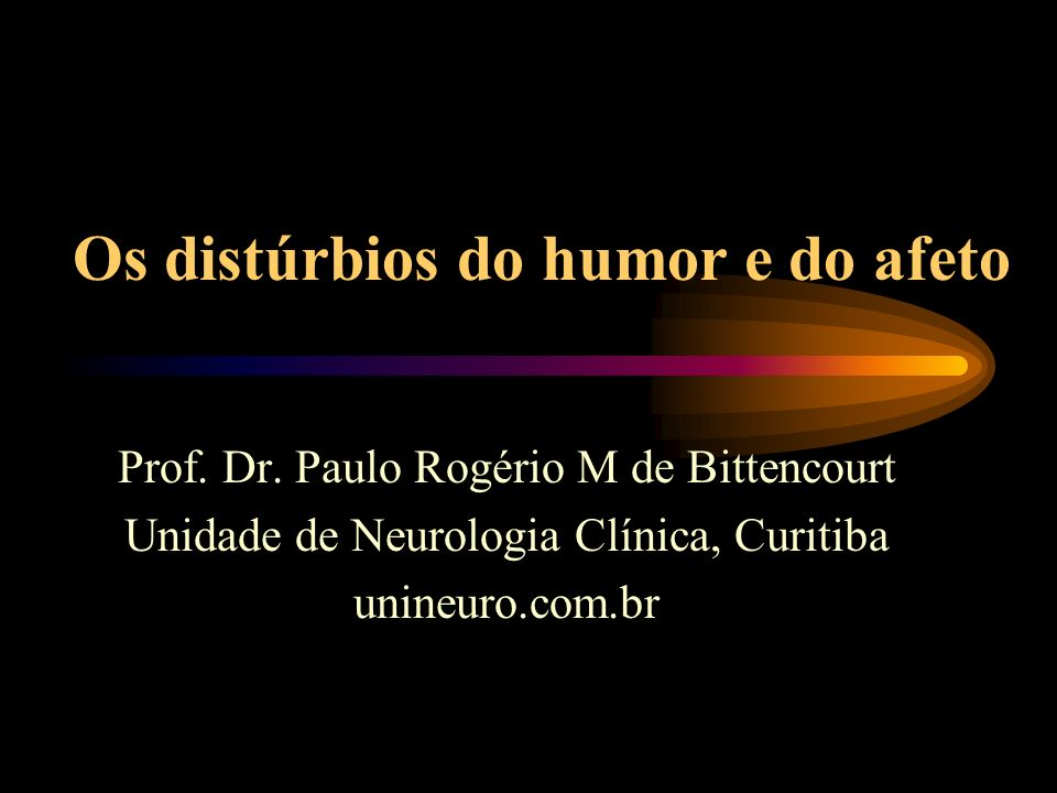 Os distúrbios do humor e do afeto