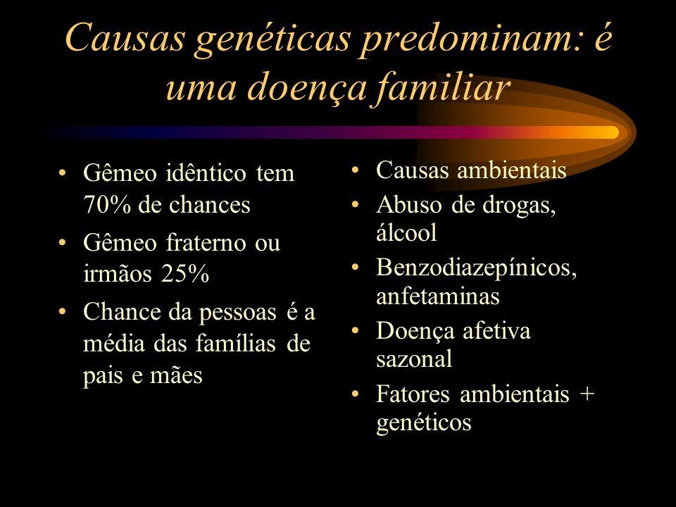 Causas genéticas predominam: é uma doença familiar