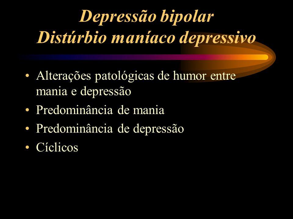 Depressão bipolar Distúrbio maníaco depressivo