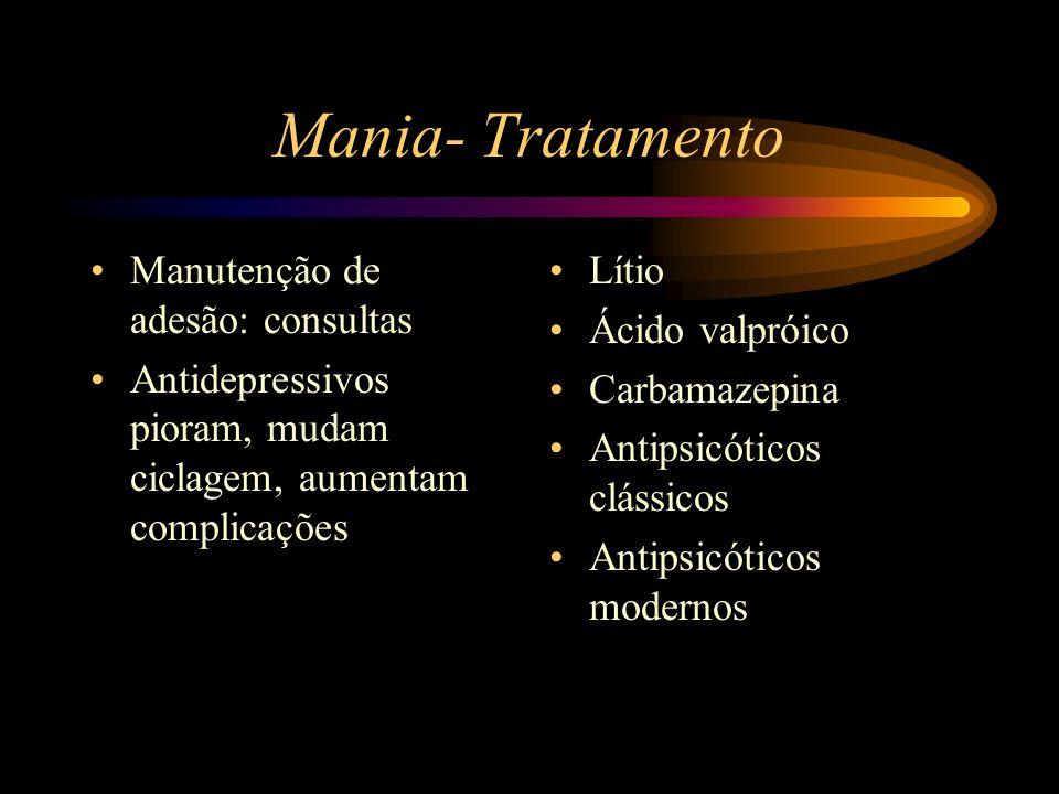 Mania- Tratamento Manutenção de adesão: consultas