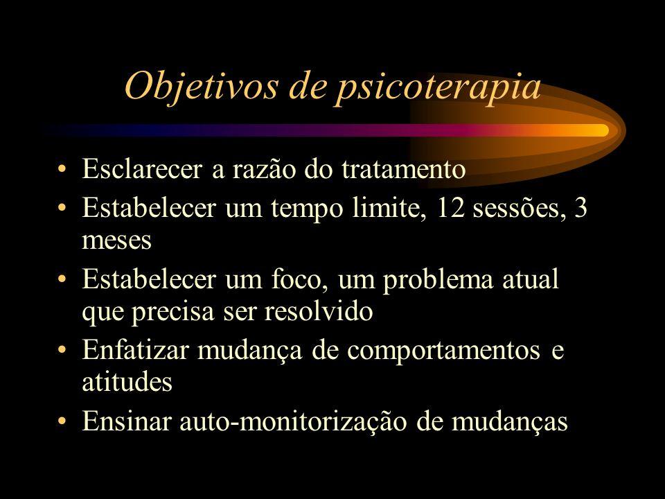 Objetivos de psicoterapia