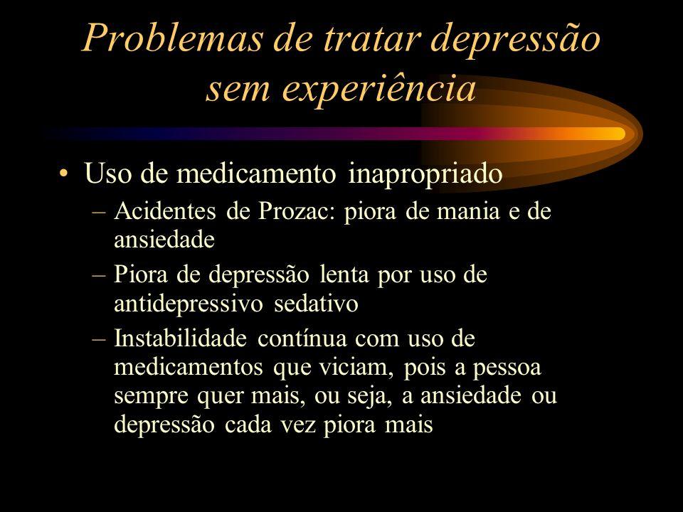 Problemas de tratar depressão sem experiência