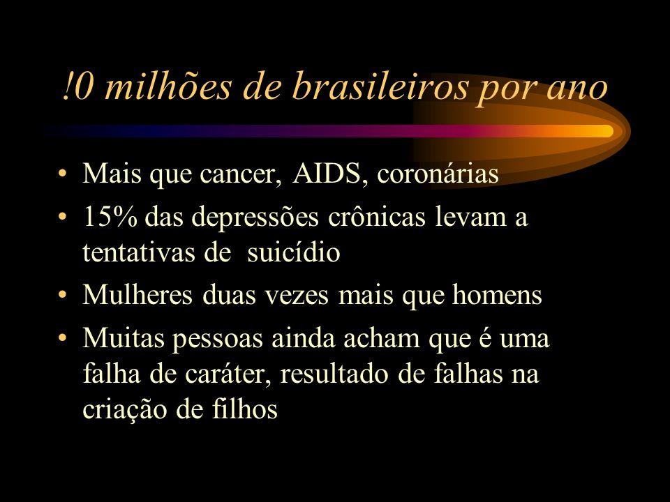 !0 milhões de brasileiros por ano