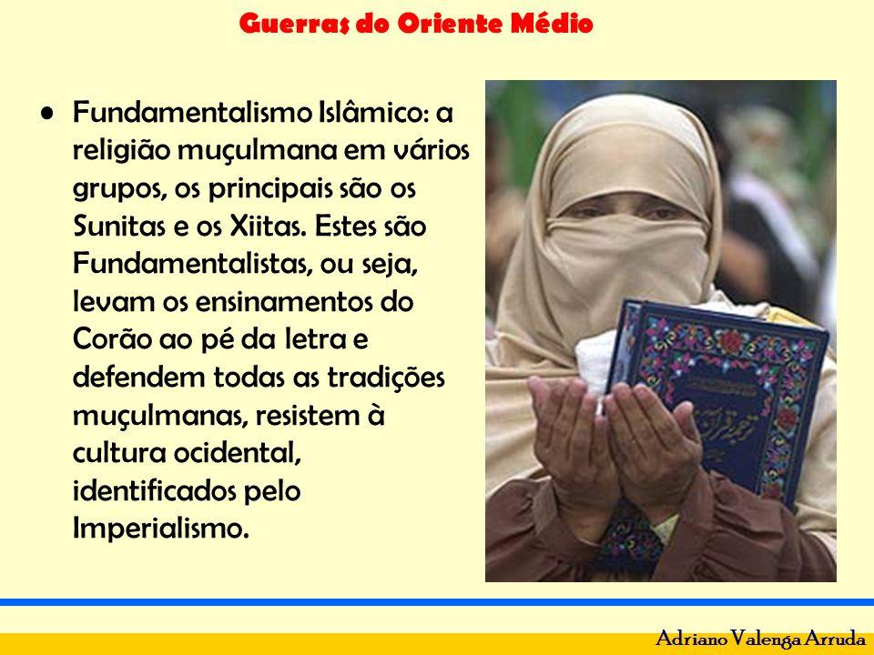 Fundamentalismo Islâmico: a religião muçulmana em vários grupos, os principais são os Sunitas e os Xiitas.