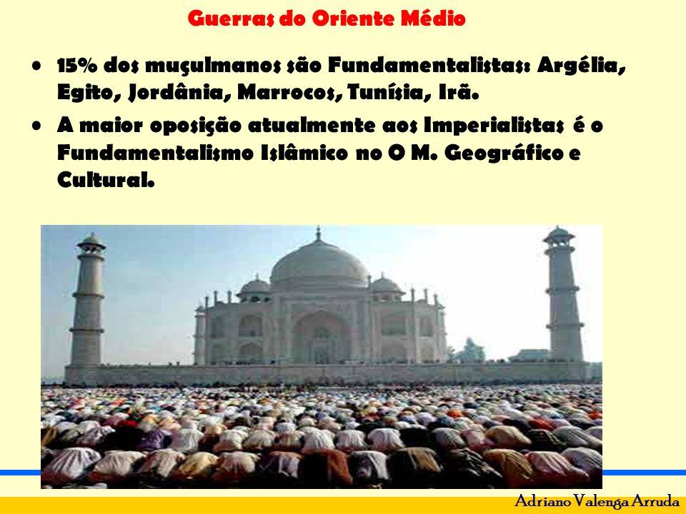 15% dos muçulmanos são Fundamentalistas: Argélia, Egito, Jordânia, Marrocos, Tunísia, Irã.