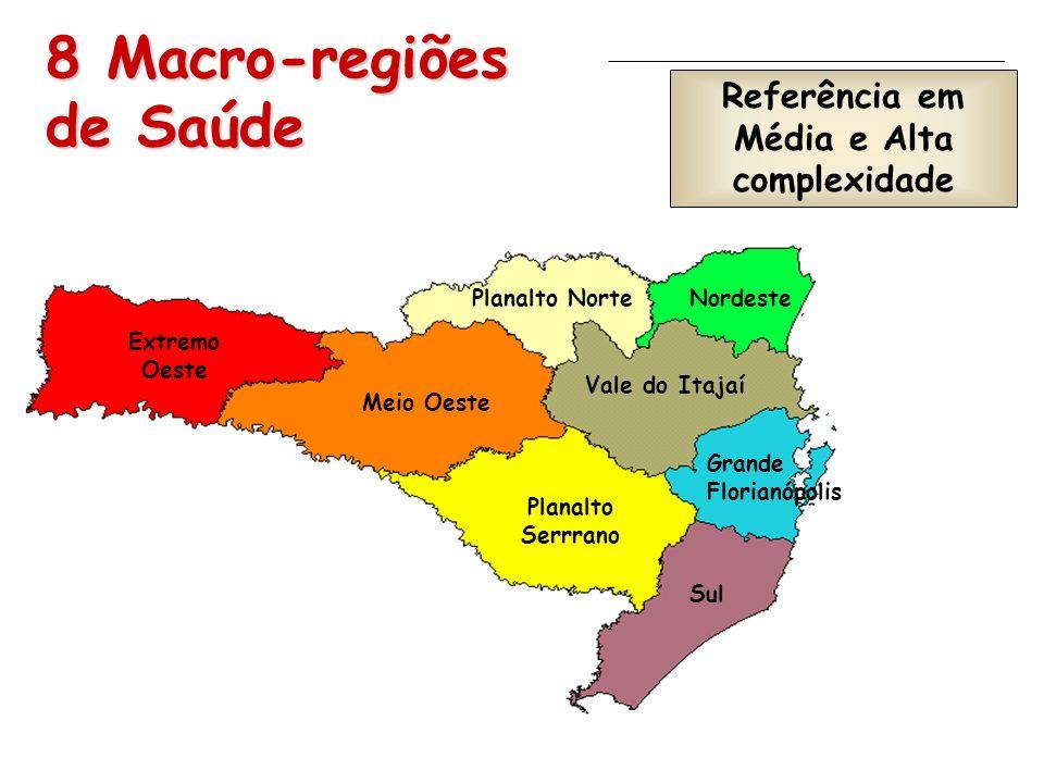 8 Macro-regiões de Saúde