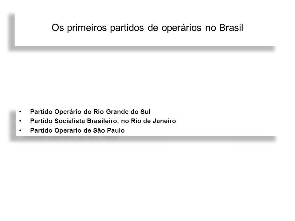 Os primeiros partidos de operários no Brasil