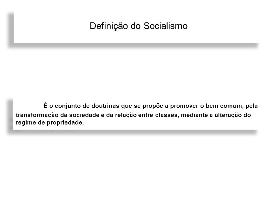 Definição do Socialismo