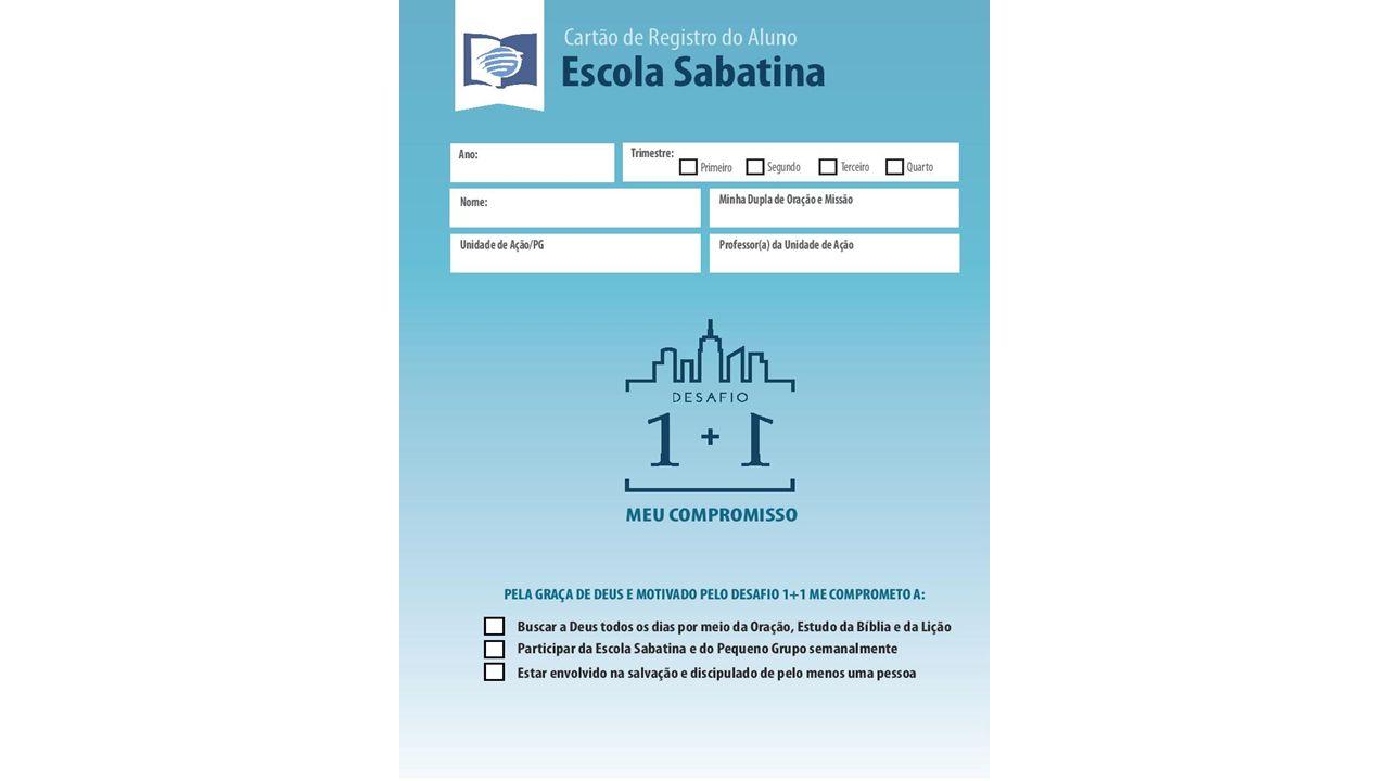 CARTÃO DE REGISTRO DO ALUNO DA ESCOLA SABATINA