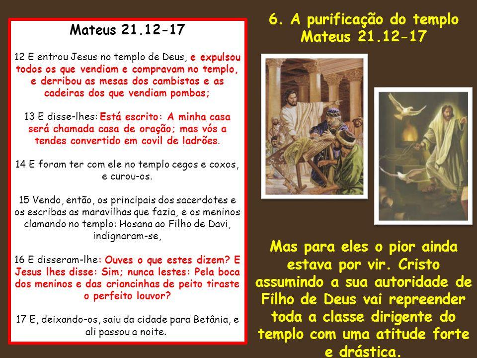 6. A purificação do templo