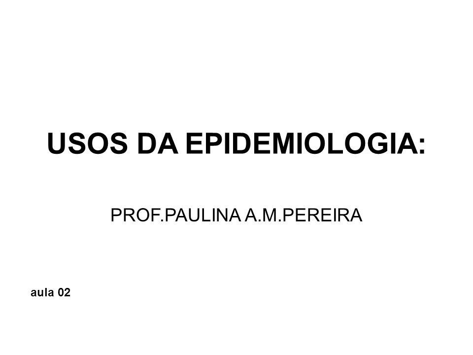 USOS DA EPIDEMIOLOGIA: