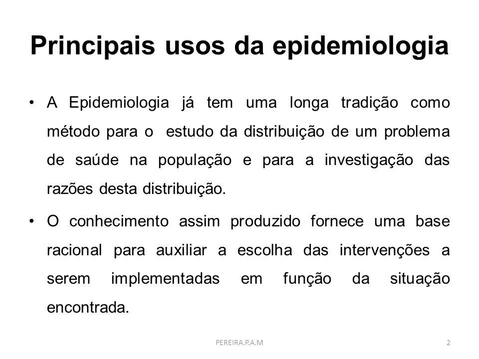 Principais usos da epidemiologia