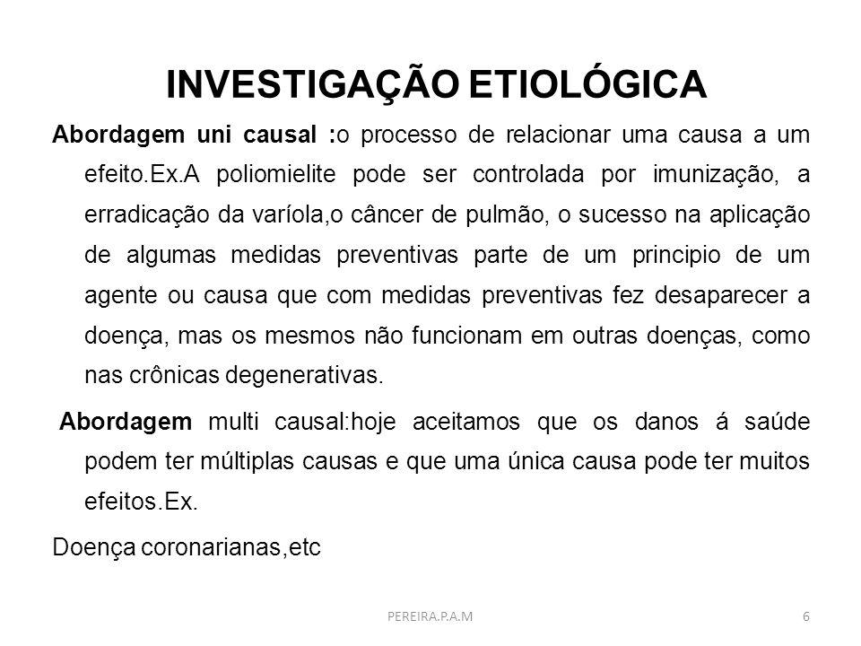 INVESTIGAÇÃO ETIOLÓGICA