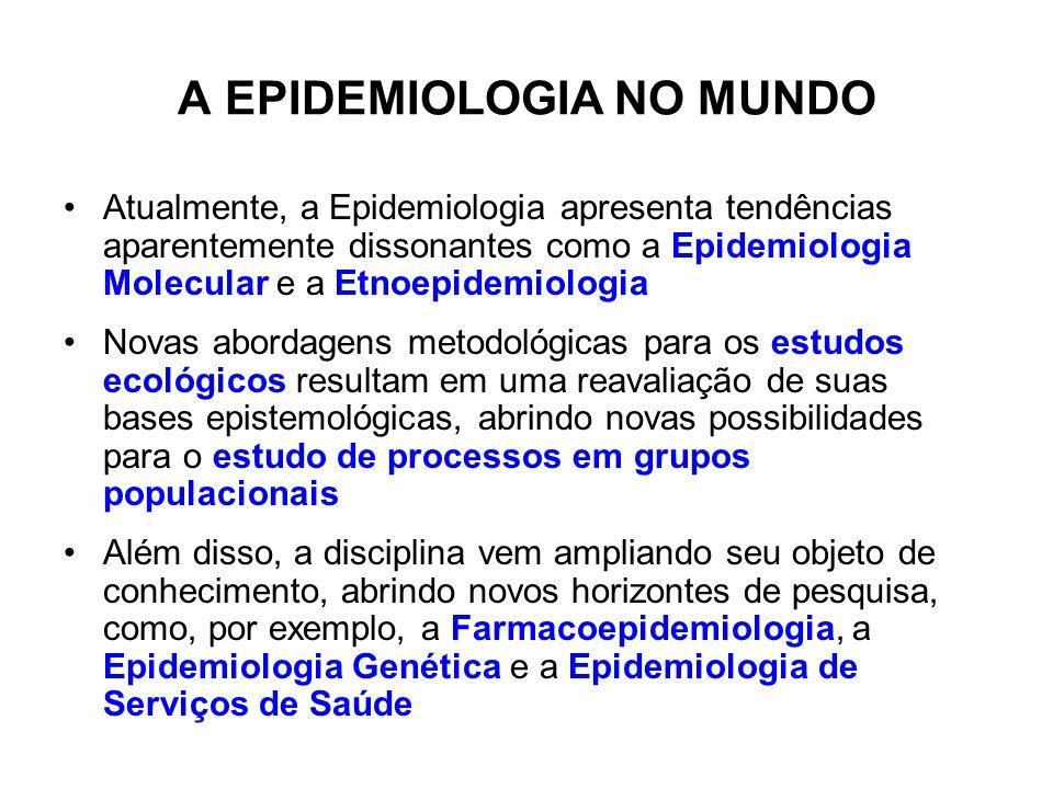 A EPIDEMIOLOGIA NO MUNDO