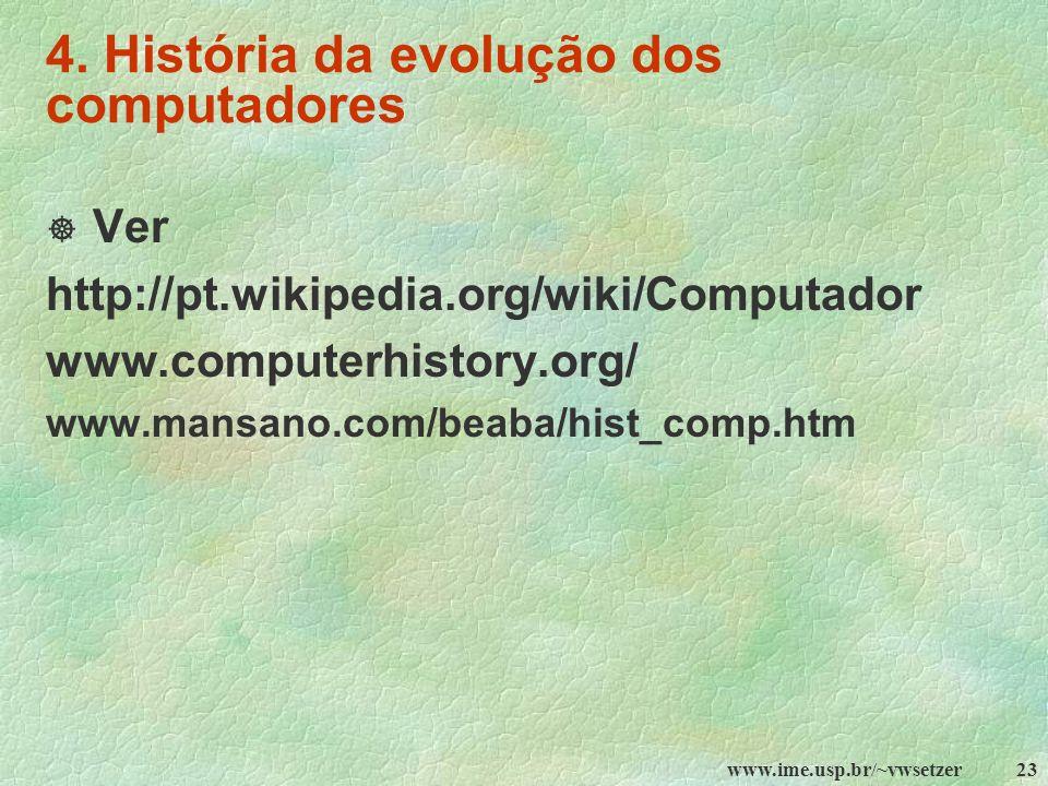 4. História da evolução dos computadores