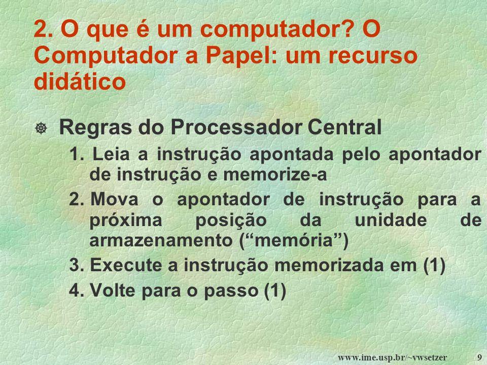 2. O que é um computador O Computador a Papel: um recurso didático
