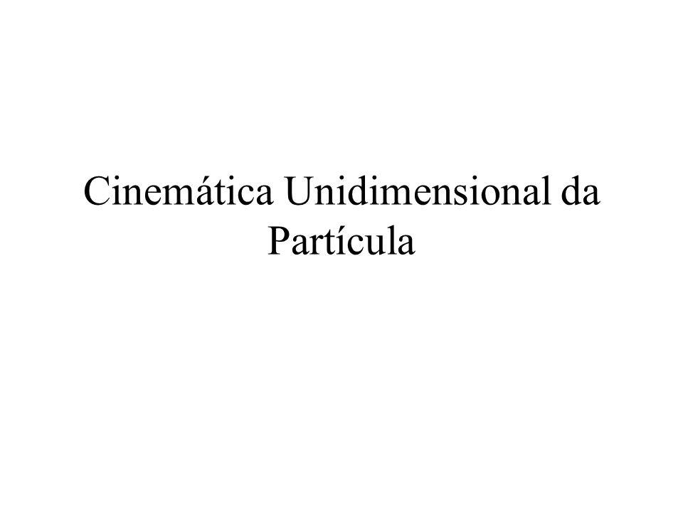 Cinemática Unidimensional da Partícula