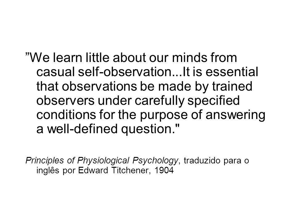 We learn little about our minds from casual self-observation