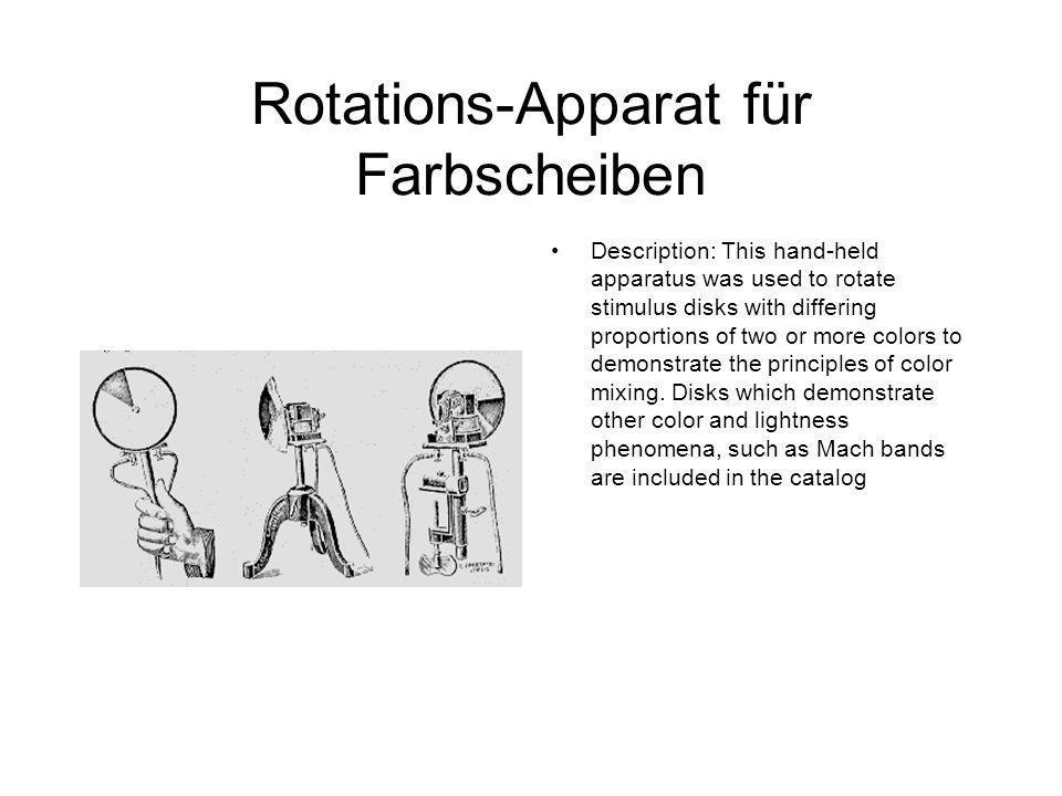 Rotations-Apparat für Farbscheiben