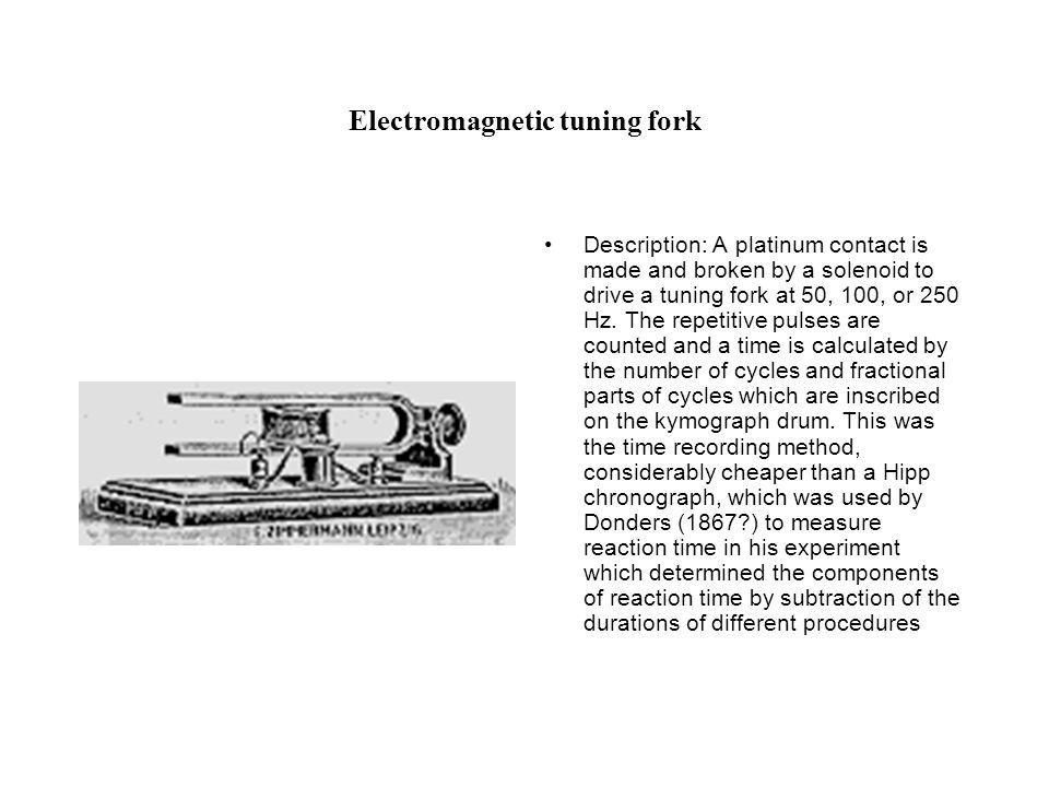 Electromagnetic tuning fork