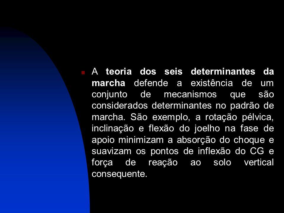 A teoria dos seis determinantes da marcha defende a existência de um conjunto de mecanismos que são considerados determinantes no padrão de marcha.