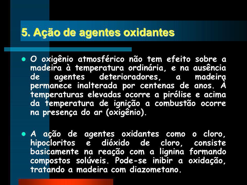 5. Ação de agentes oxidantes