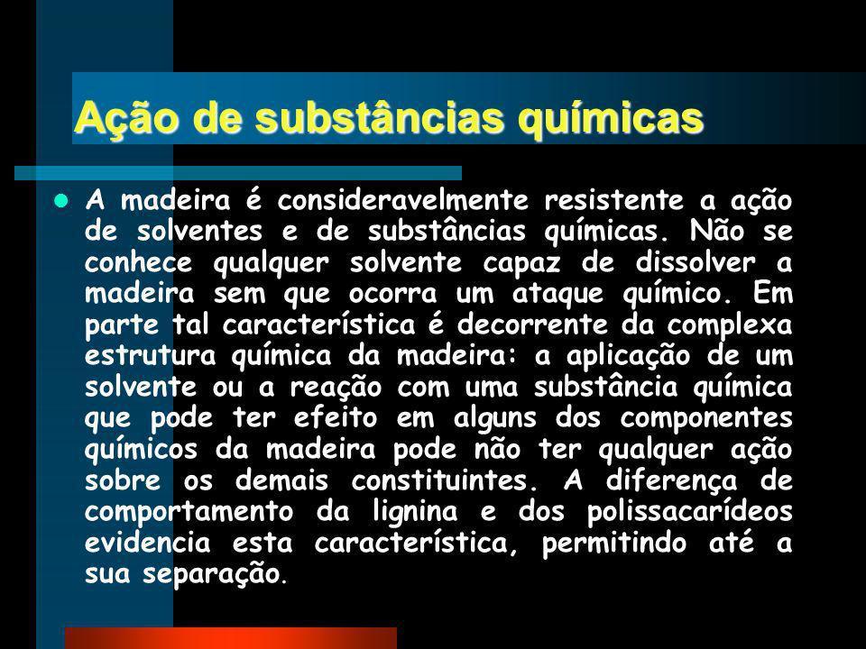 Ação de substâncias químicas