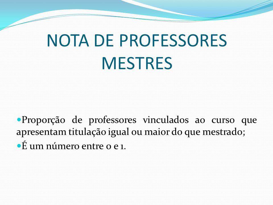 NOTA DE PROFESSORES MESTRES