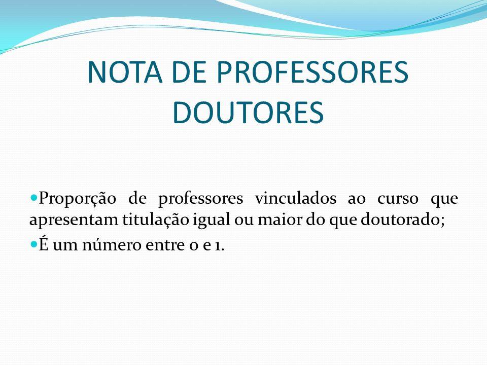 NOTA DE PROFESSORES DOUTORES