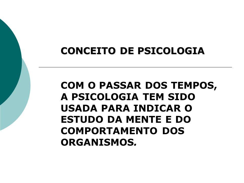 CONCEITO DE PSICOLOGIA