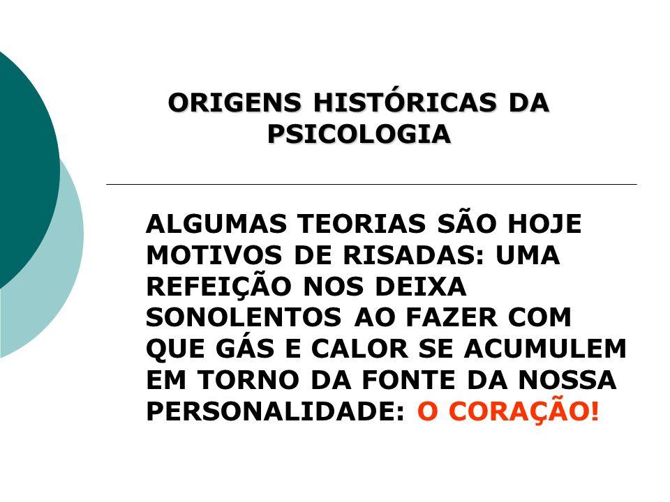 ORIGENS HISTÓRICAS DA PSICOLOGIA