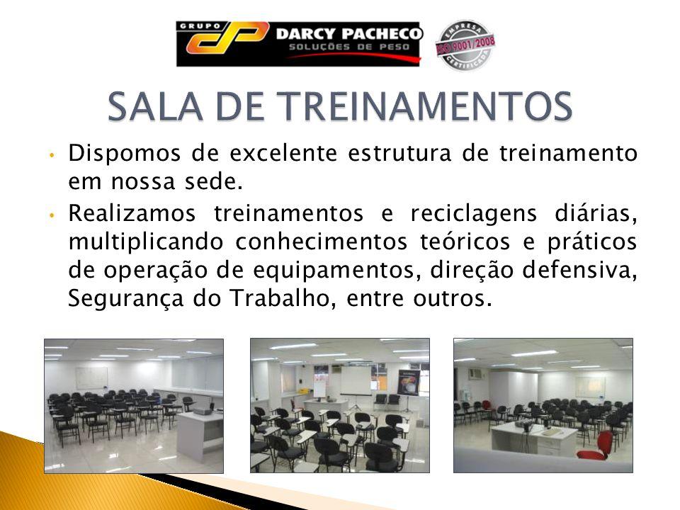 SALA DE TREINAMENTOS Dispomos de excelente estrutura de treinamento em nossa sede.