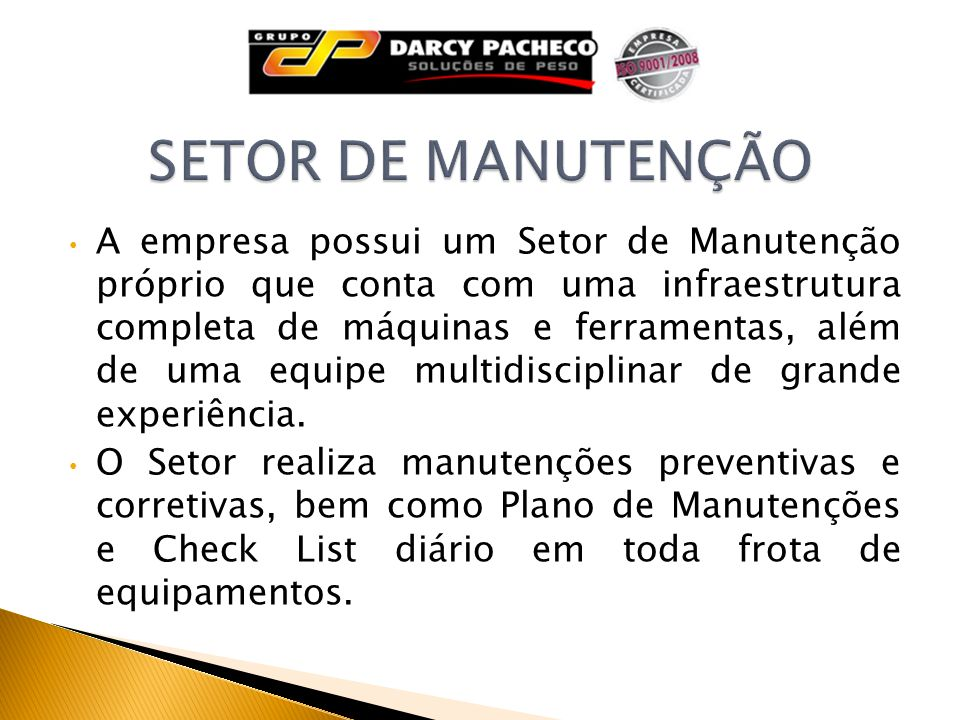 SETOR DE MANUTENÇÃO
