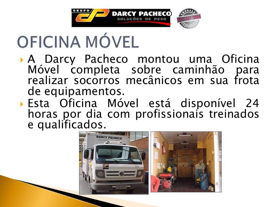 OFICINA MÓVEL A Darcy Pacheco montou uma Oficina Móvel completa sobre caminhão para realizar socorros mecânicos em sua frota de equipamentos.