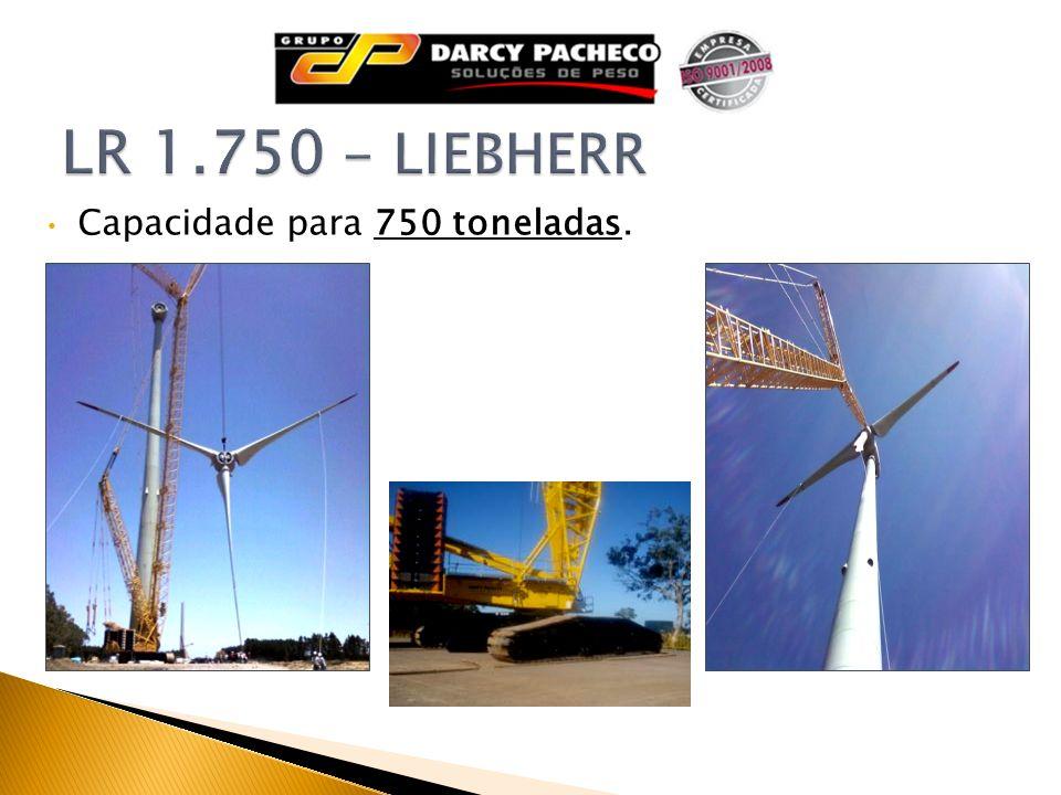 LR 1.750 - LIEBHERR Capacidade para 750 toneladas.
