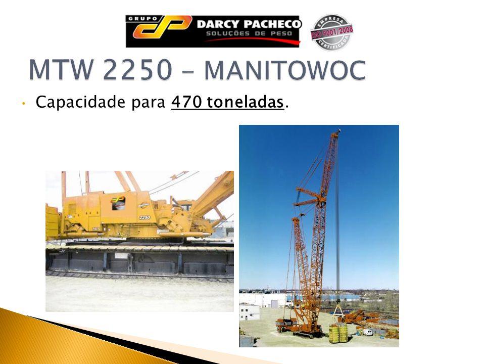 MTW 2250 - MANITOWOC Capacidade para 470 toneladas.