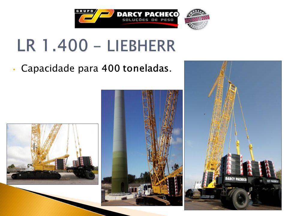 LR 1.400 - LIEBHERR Capacidade para 400 toneladas.