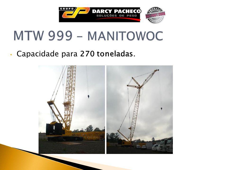 MTW 999 - MANITOWOC Capacidade para 270 toneladas.