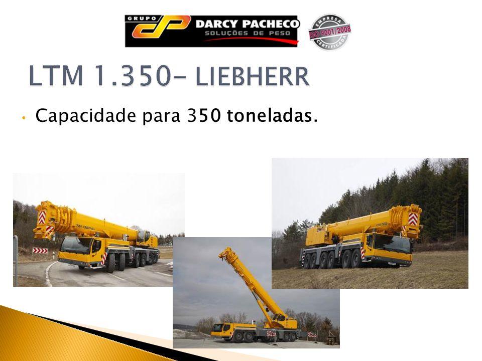 LTM 1.350- LIEBHERR Capacidade para 350 toneladas.