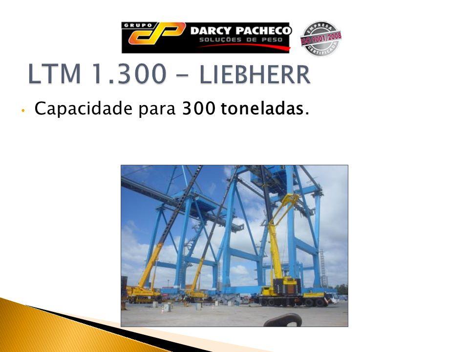 LTM 1.300 - LIEBHERR Capacidade para 300 toneladas.