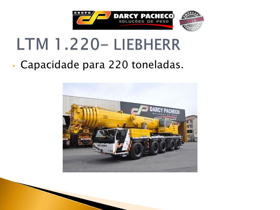 LTM 1.220- LIEBHERR Capacidade para 220 toneladas.