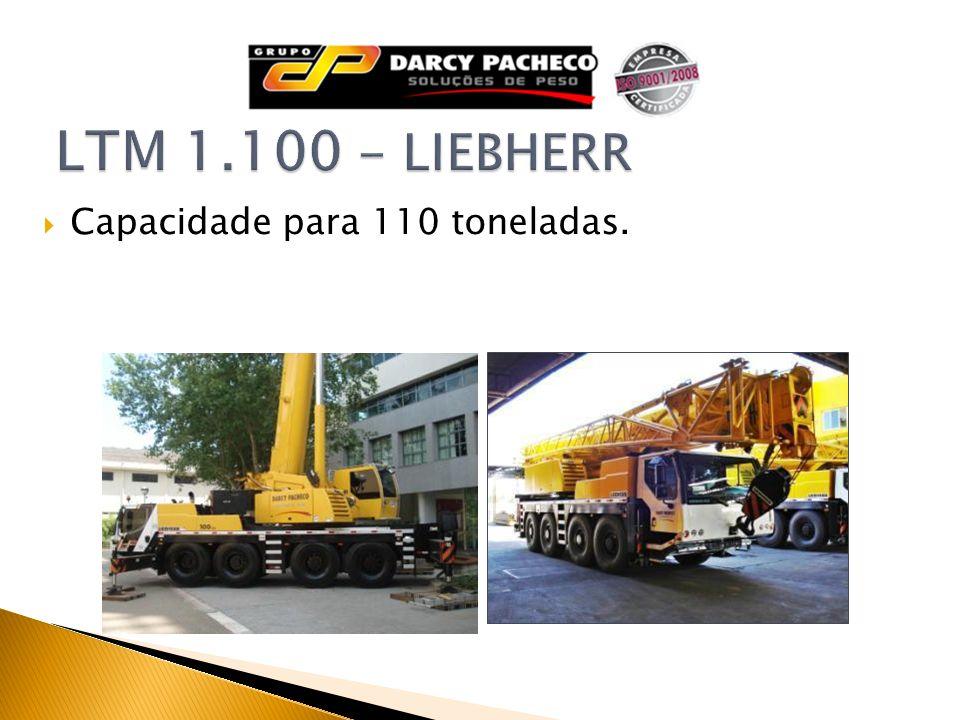 LTM 1.100 - LIEBHERR Capacidade para 110 toneladas.