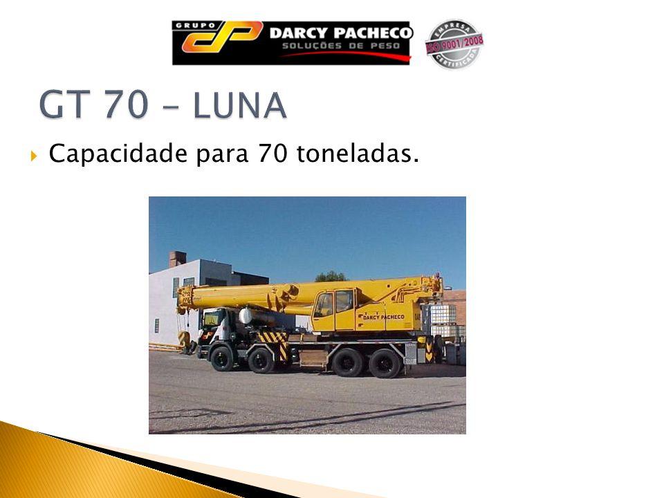 GT 70 - LUNA Capacidade para 70 toneladas.