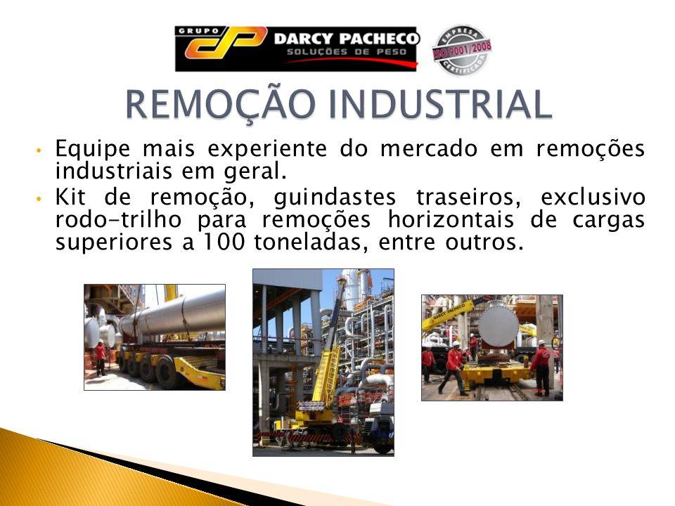 REMOÇÃO INDUSTRIAL Equipe mais experiente do mercado em remoções industriais em geral.